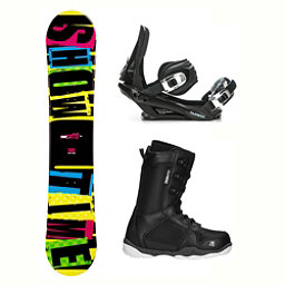 2B1 Showtime Yellow ST-1 Complete Snowboard Package 2018, , 256