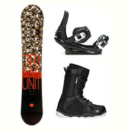 2B1 Unit Black ST-1 Complete Snowboard Package 2018, , 256