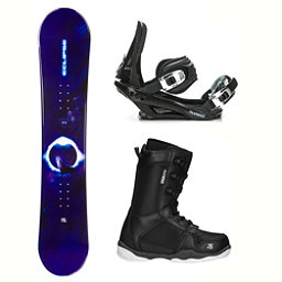 Black Fire Eclipse Wolf ST-1 Complete Snowboard Package 2018, , 256