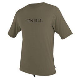 O'Neill Skins Short Sleeve Sun Shirt Mens Rash Guard, Khaki, 256