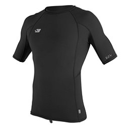 O'Neill Skins Short Sleeve Mens Rash Guard, Black-Black-Black, 256
