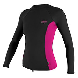 O'Neill Skins Long Sleeve Womens Rash Guard, Black-Berry-Black, 256