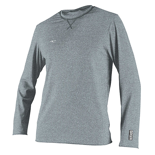 O'Neill Hybrid Long Sleeve Sun Shirt Mens Rash Guard 2020, Cool Grey, 600