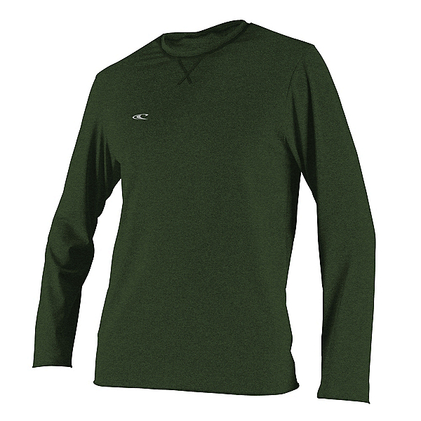 O'Neill Hybrid Long Sleeve Sun Shirt Mens Rash Guard, Dark Olive, 600