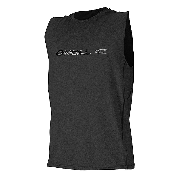 O'Neill Hybrid Sleeveless Tee Mens Rash Guard 2020, Black, 600