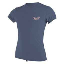 O'Neill Skins Short Sleeve Sun Shirt Womens Rash Guard, Mist, 256