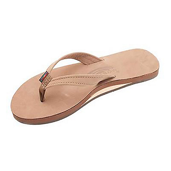 Rainbow Sandals Catalina Single Layer Premier Leather Womens Flip Flops, Dark Brown, 600