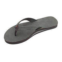 Rainbow Sandals Catalina Single Layer Premier Leather Womens Flip Flops, Black, 256