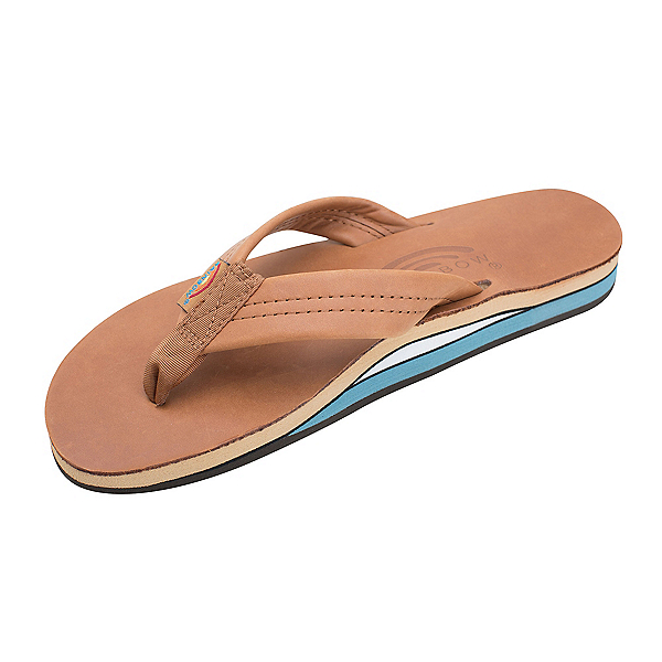 Rainbow Sandals Double Layer Premier Leather Womens Flip Flops, , 600