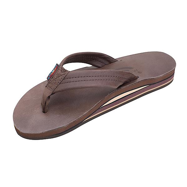 Rainbow Sandals Double Layer Premier Leather Womens Flip Flops, Mocha, 600