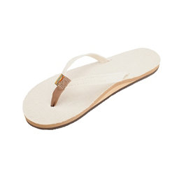 Rainbow Sandals Single Layer Hemp Narrow Womens Flip Flops, Natural, 256