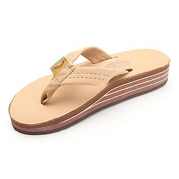 Rainbow Sandals 4-Layer Wedge Premier Leather Womens Flip Flops, , 600