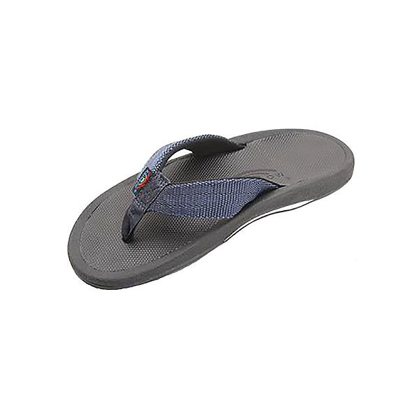 Rainbow Sandals The Mariner Mens Flip Flops, Black-Blue, 600