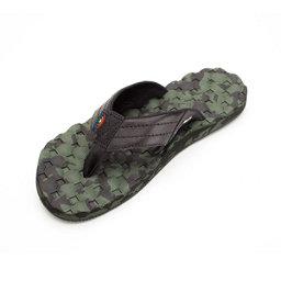 Rainbow Sandals Holoholo Gerry Lopez Rubber Signature Mens Flip Flops, Black-Green, 256