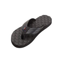 Rainbow Sandals Holoholo Gerry Lopez Rubber Signature Mens Flip Flops, Black, 256