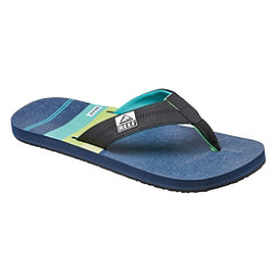 Reef HT Prints Mens Flip Flops, Aqua Green, 256