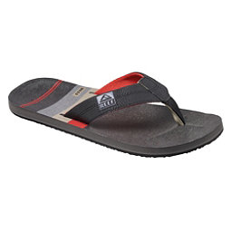 Reef HT Prints Mens Flip Flops, Black-Red-Stripes, 256