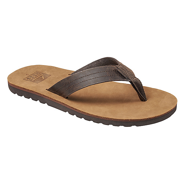 Reef Voyage LE Mens Flip Flops, Dark Brown-Tan, 600