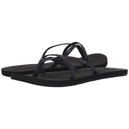 Reef Bliss Wild Womens Flip Flops, Black-Black, 256