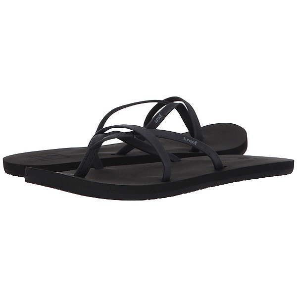 Reef Bliss Wild Womens Flip Flops, Black-Black, 600