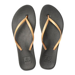 Reef Escape Lux Womens Flip Flops, Black-Gold, 256