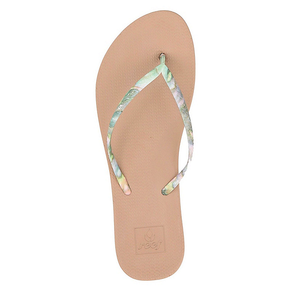 Reef Escape Lux Nature Womens Flip Flops, Abalone, 600