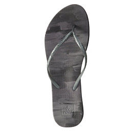 Reef Escape Lux Paint Womens Flip Flops, Black Paint, 256