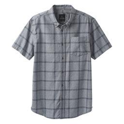 Prana Broderick Window Pane Mens Shirt, Coal, 256