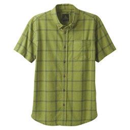 Prana Broderick Window Pane Mens Shirt, Forest Green, 256