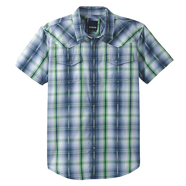 Prana Holstad Mens Shirt, Equinox Blue, 600