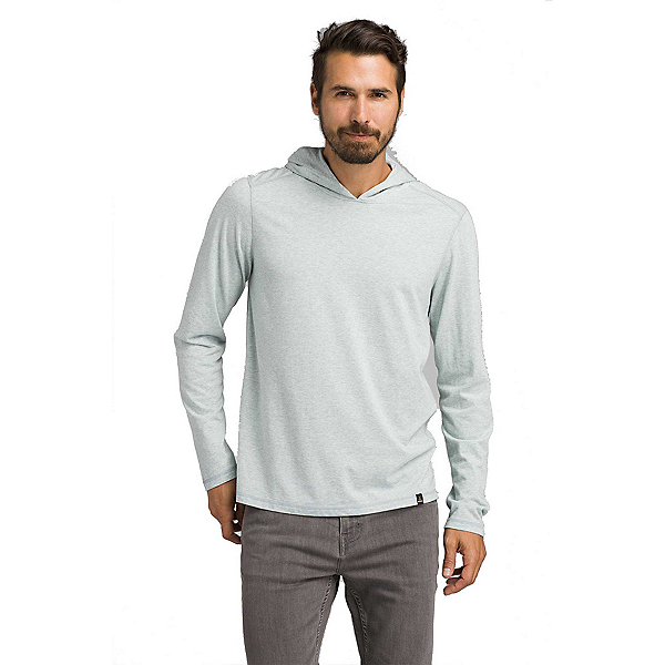 Prana Long Sleeve Mens Hoodie, Agave Heather, 600