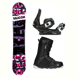 Silicon Crack Red ST-1 Complete Snowboard Package 2018, , 256