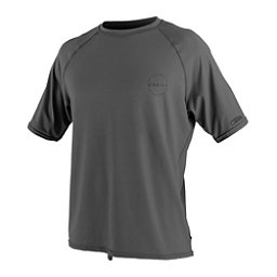 O'Neill 24-7 Traveler Short Sleeve Sun Shirt Mens Rash Guard, Graphite, 256