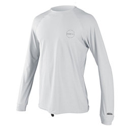 O'Neill 24-7 Traveler Long Sleeve Sun Shirt Mens Rash Guard, White-White, 256