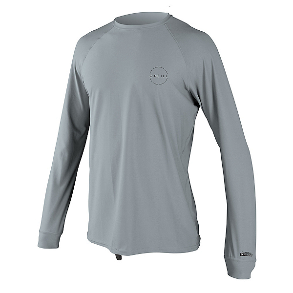 O'Neill 24-7 Traveler Long Sleeve Sun Shirt Mens Rash Guard, Cool Grey-Cool Grey, 600