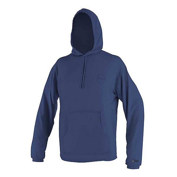O'Neill 24-7 Traveler Sun Hoodie Mens Rash Guard, Navy-Navy, 600