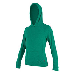 O'Neill Hybrid Long Sleeve Sun Hoodie Womens Rash Guard, Seaglass, 256