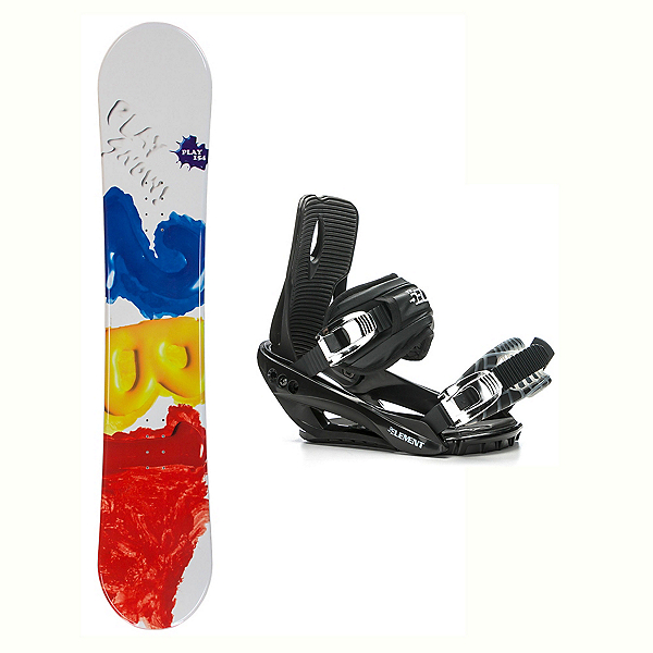 2B1 Play Red Stealth 3 Snowboard and Binding Package 2018, , 600