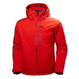 Helly Hansen Double Diamond Mens Insulated Ski Jacket, Alert Red, 256