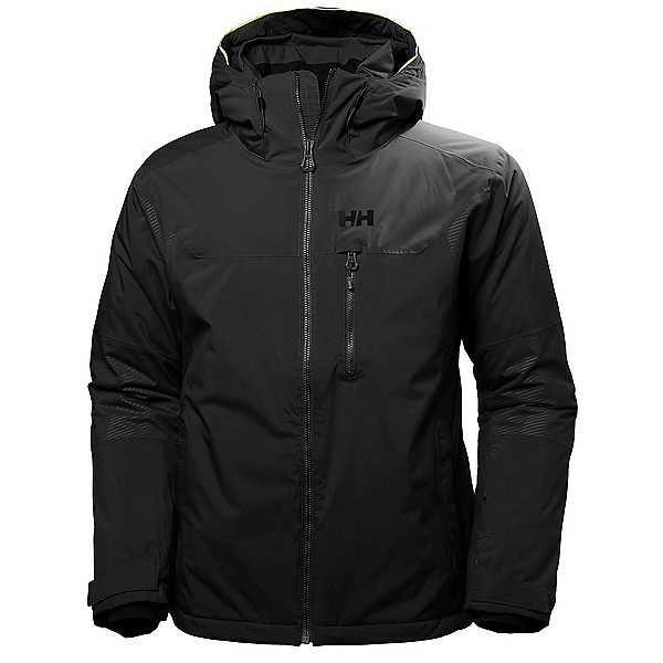 Helly Hansen Double Diamond Mens Insulated Ski Jacket, Black, 600