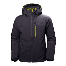 Helly Hansen Double Diamond Mens Insulated Ski Jacket, Graphite Blue, 256