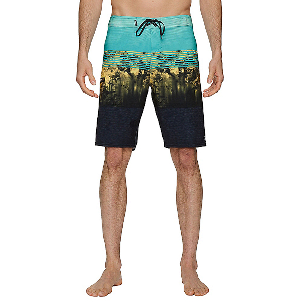 O'Neill Hyperfreak Mens Board Shorts, Aqua, 600