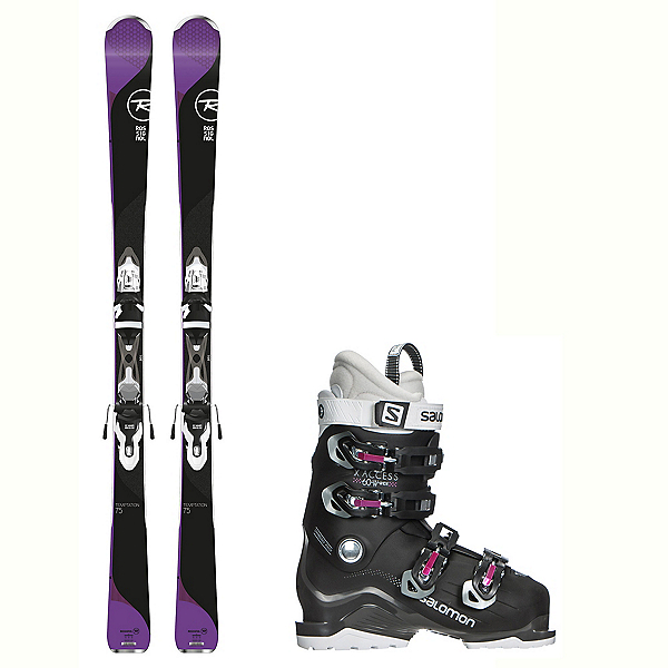 Rossignol Temptation 75 X-Access 60 Wide Womens Ski Package 2018, , 600