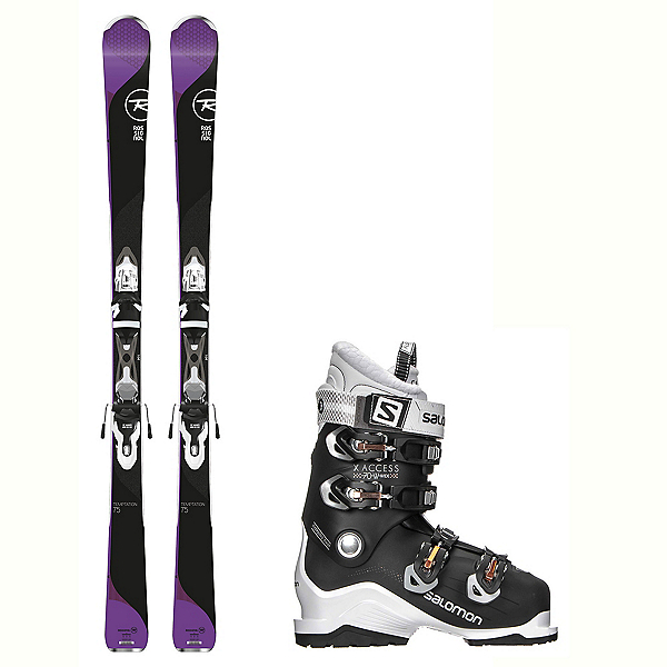 Rossignol Temptation 75 X-Access 70 Wide Womens Ski Package 2018, , 600