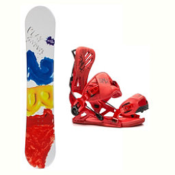 2B1 Play Red Mutant Snowboard and Binding Package 2018, , 256