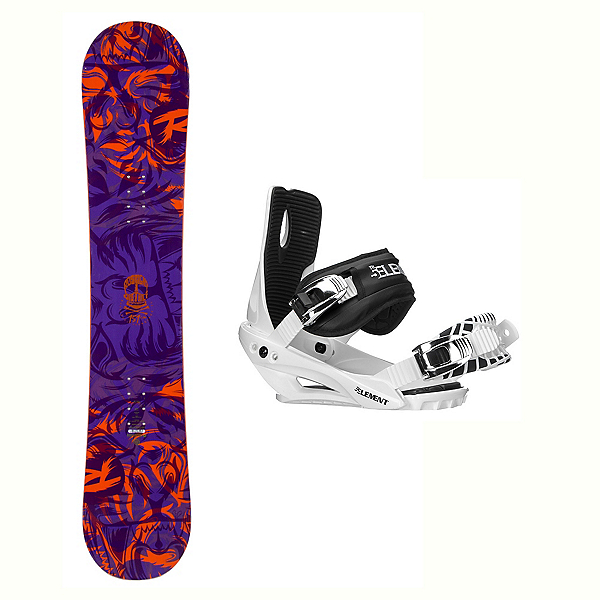 6eed514f450 Rossignol District AmpTek Stealth 3 Snowboard and Binding Package 2018