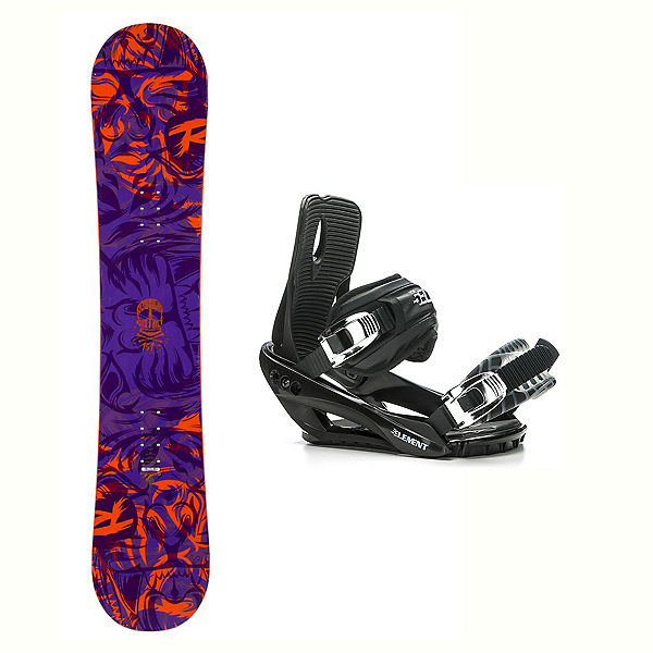 Rossignol District AmpTek Wide Stealth 3 Snowboard and Binding Package, , 600