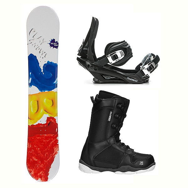 2B1 Play Red ST-1 Complete Snowboard Package, , 600