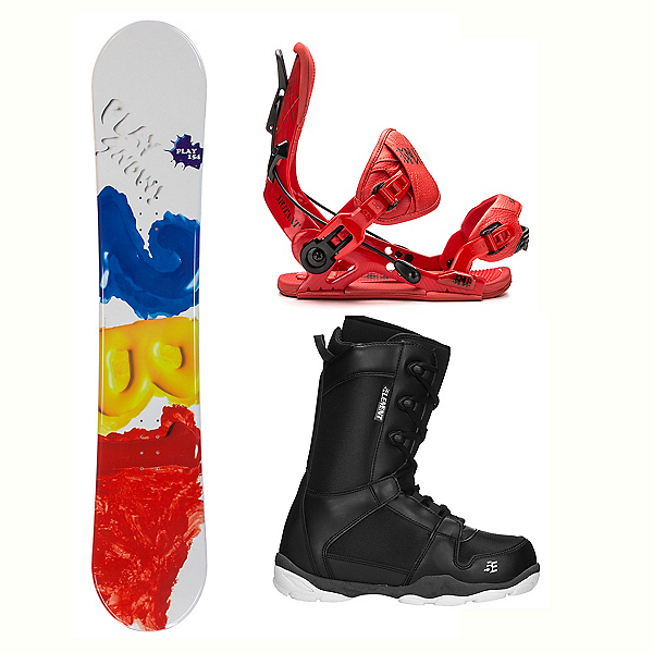 2B1 Play Red ST-1 Two Complete Snowboard Package, , 600