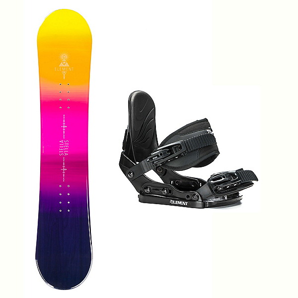 Stella Element Yellow Stealth Girls Snowboard and Binding Package 2018, , 600